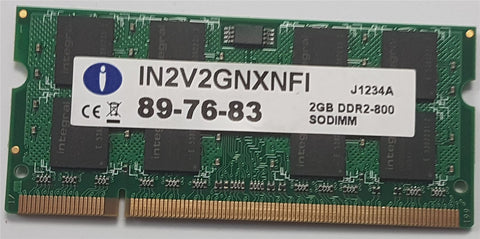 Integral iMac/Macbook Laptop Memory 2GB DDR2 800mhz PC2-6400 SoDimm IN2V2GNXNFI