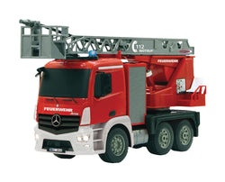 R/C Fire Truck Mercedes Antos 4+6 Channel RTR / Sound / With Lights / 4WD 2.4 GHz Control 1:20 Red