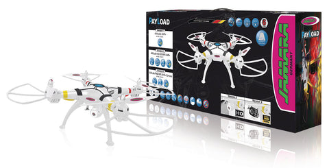 Jamara R/C Drone Payload Altitude 4+6 Channel RTF / Photo / Video / Gyro Inside / With Lights / 360 Flip / FPV 2.4 GHz Control White