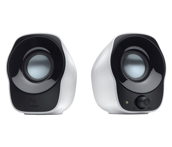 White/Black USB Powered PC Desktop Computer Speakers Portable for Laptop/Notebook/Tablet NEW- Z120 by Logitech