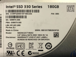 "Intel SSD 330 Series 180GB 2.5"" Sata Internal Solid State Drive (SSD) 6Gb/s -SSDSC2CT180A3 (Refurbished) 45N8122"
