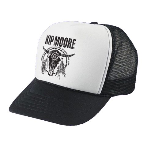 Black & White Bull Trucker Hat