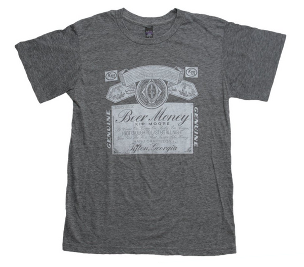Grey Beer Money Tee