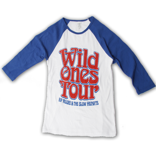 Wild Ones Raglan - Blue/White