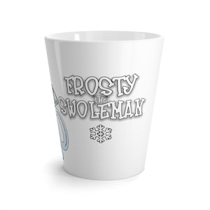 Frosty the Swoleman Latte mug