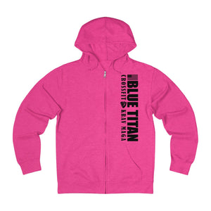 Pink french Terry Zip-up Hoodie