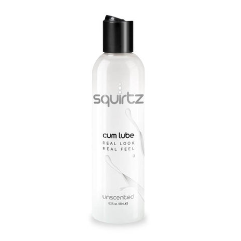 Squirtz Cum Lube - Unscented Water-Based Lubricant - 185 ml Bottle