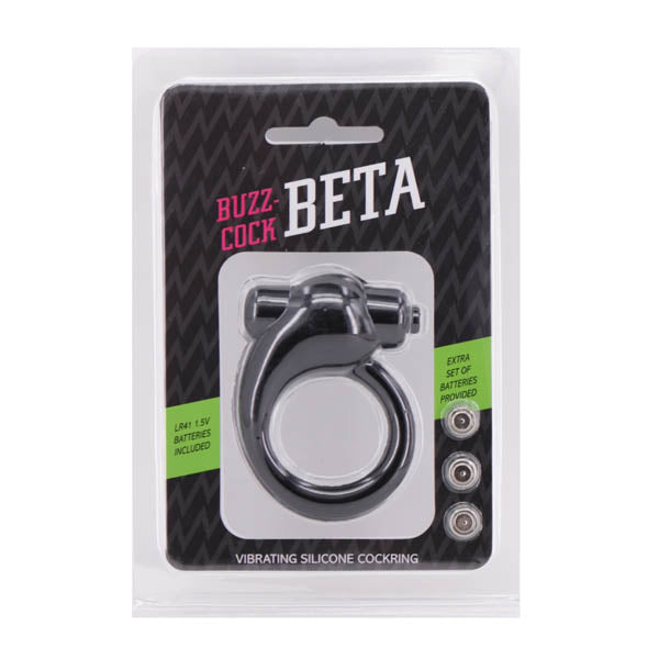 Buzz-Cock Beta - Black Vibrating Cock Ring - Early2bed