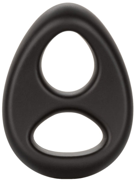 Ultra-Soft Dual Ring - Black Cock Ring