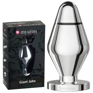 Mystim Giant John - Aluminium 16 cm XXL Butt Plug with E-Stim - Early2bed