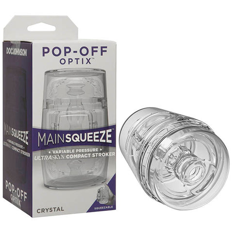 Main Squeeze - Pop-Off Optix - Clear Mini Stroker