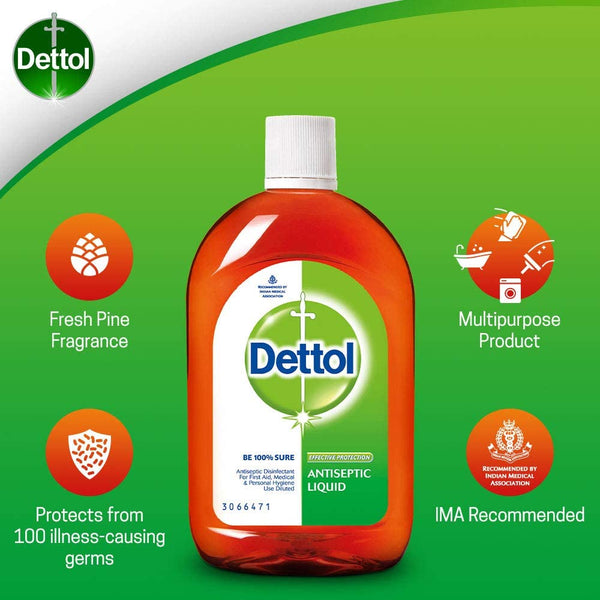 3pcs Dettol Antiseptic Disinfectant Classic 550mL - Early2bed