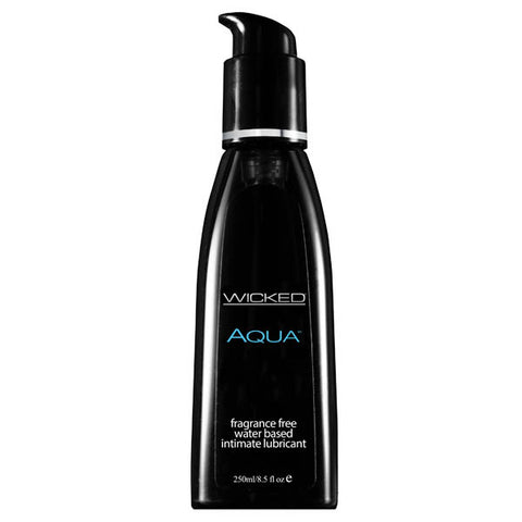 Wicked Aqua - Water Based Lubricant - 250 ml (8.5 oz) Bottle - Early2bed