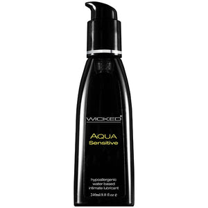 Wicked Aqua Sensitive - Water Based Lubricant - 240 ml (8 oz) Bottle - Early2bed