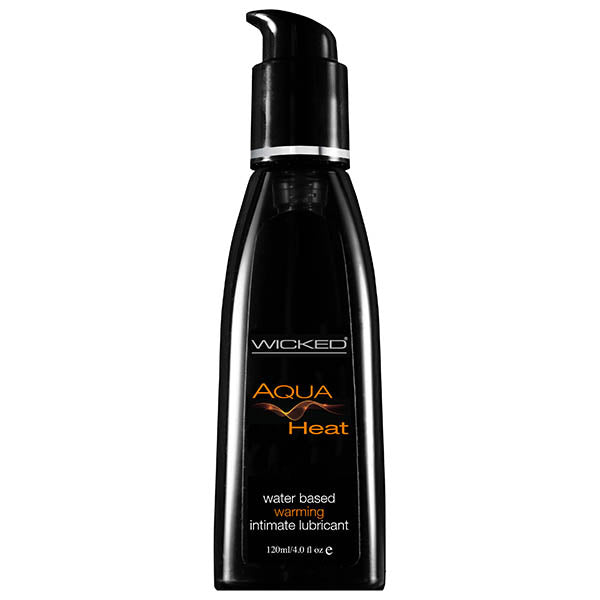 Wicked Aqua Heat - Warming Water Based Lubricant - 120 ml (4 oz) Bottle - Early2bed