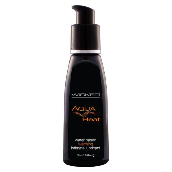 Wicked Aqua Heat - Warming Water Based Lubricant - 60 ml (2 oz) Bottle - Early2bed