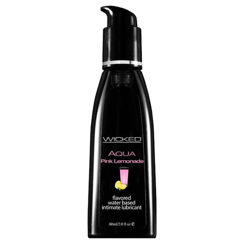 Wicked Aqua Pink Lemonade - Pink Lemonade Flavoured Water Based Lubricant - 60 ml (2 oz) Bottle
