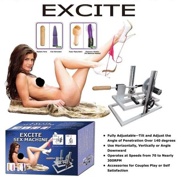 MyWorld Excite Sex Machine - Mains Powered Sex Machine - Early2bed