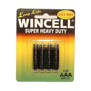 Wincell Aaa Super Heavy Duty Batteries - Super Heavy Duty Batteries - AAA 4 Pack - Early2bed