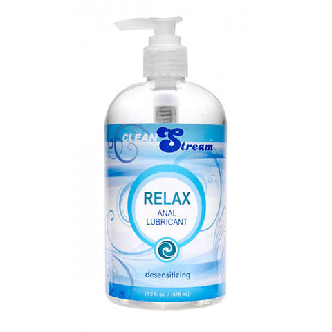CleanStream Relax Anal Lubricant - Desensitising Lubricant - 518 ml (17.5 oz) Pump Bottle - Early2bed