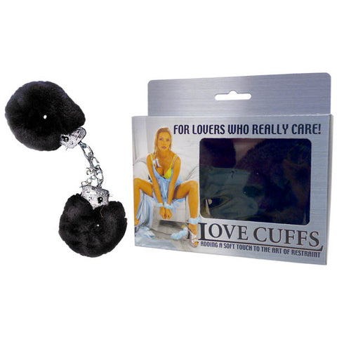 Love Cuffs - Black Fluffy Hand Cuffs - Early2bed