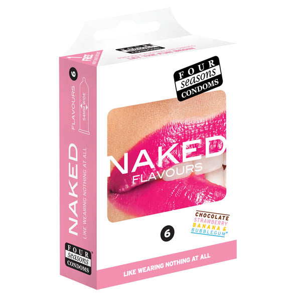 Naked Flavours - Ultra Thin Flavoured Condoms - 6 Pack - Early2bed