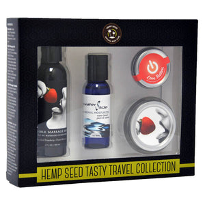 Hemp Seed Tasty Travel Collection - Strawberry Scented Lotion Kit - 4 Piece Set - Early2bed