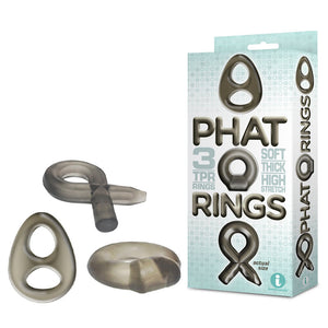 The 9's Phat Rings - Smoke Cock Rings - Set of 3 - Early2bed