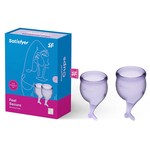 Satisfyer Feel Secure - Lilla Purple Silicone Menstrual Cups - Set of 2 - Early2bed