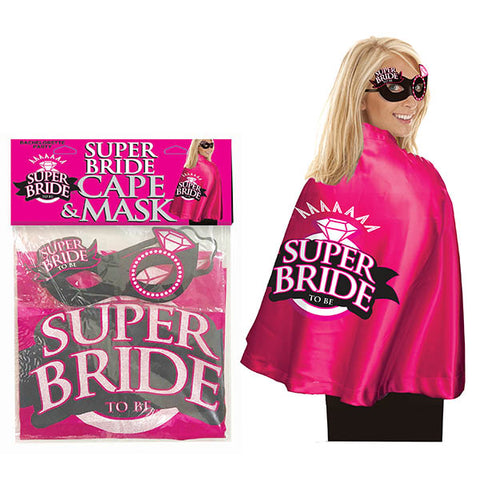 Super Bride Cape & Mask - Hens Party Costume - Early2bed