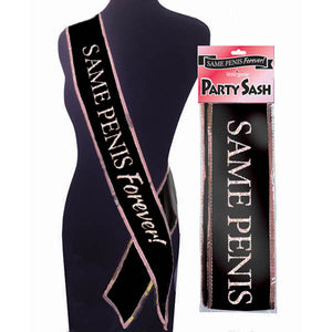 Sash - Same Penis Forever - Hens Party Novelty - Early2bed