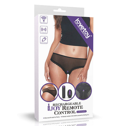 IJOY Rechargeable Remote Control Vibrating Panties - Black USB Rechargeable Vibrating Panties - Early2bed
