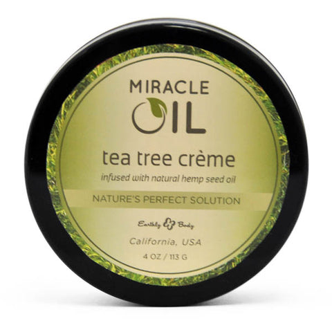 Miracle Oil Tea Tree Creme - Skin Soothing Cream with Hemp Seed Oil - 113 g Tub - Early2bed