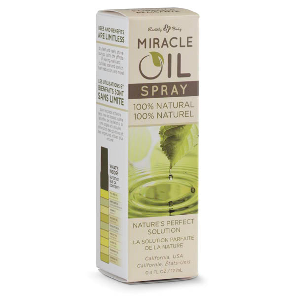 Miracle Oil Mini Spray - Skin Soothing Spray with Hemp Seed Oil - 12 ml Spray Bottle - Early2bed
