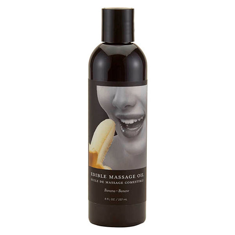 Edible Massage Oil - Banana Flavoured - 237 ml Bottle - Early2bed