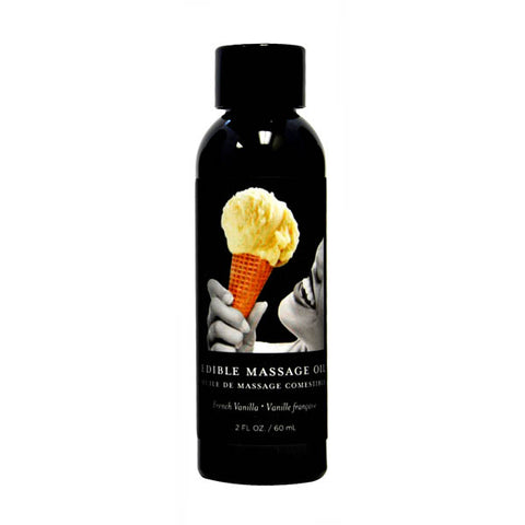 Edible Massage Oil - French Vanilla Flavoured - 59 ml Bottle - Early2bed