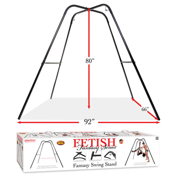 Fetish Fantasy Series Fantasy Swing Stand - Black Swing Stand (No Swing Included) - Early2bed