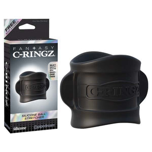 Fantasy C-ringz Silicone Ball Stretcher - Black Ball Ring - Early2bed