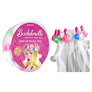 Bachelorette Party Favors Light-Up Pecker Veil - Hens Party Novelty - Early2bed
