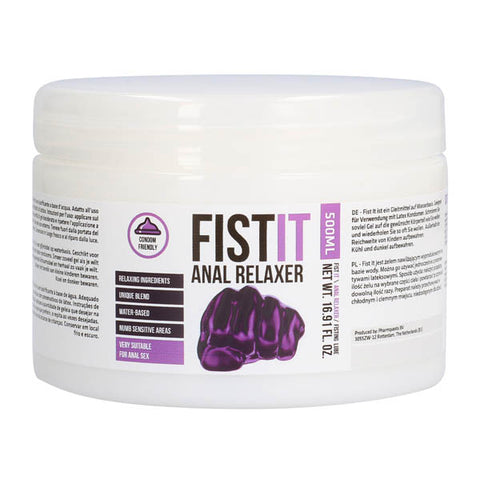Pharmquests Fist-It Anal Relaxer - Water Based Relaxing Lubricant - 500 ml Tub - Early2bed