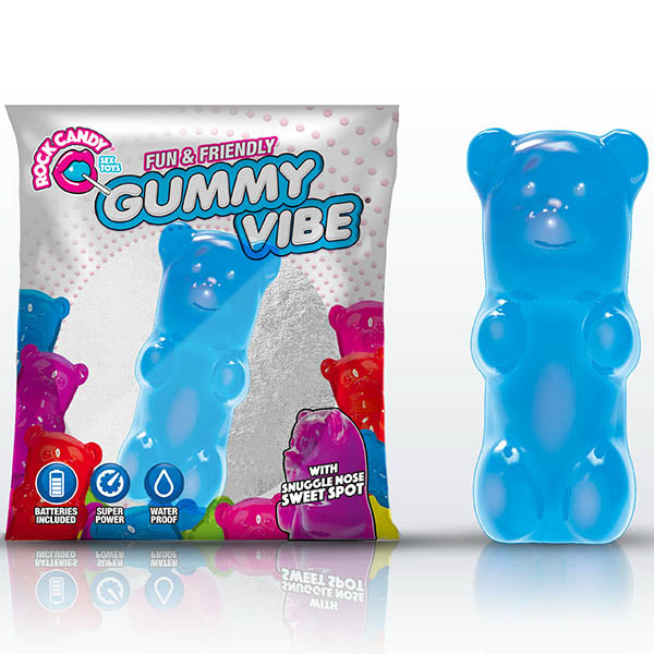 Rock Candy Gummy Vibe - Blueberry Blue Disposable Jelly Bullet - Early2bed