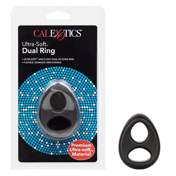 Ultra-Soft Dual Ring - Black Cock Ring - Early2bed