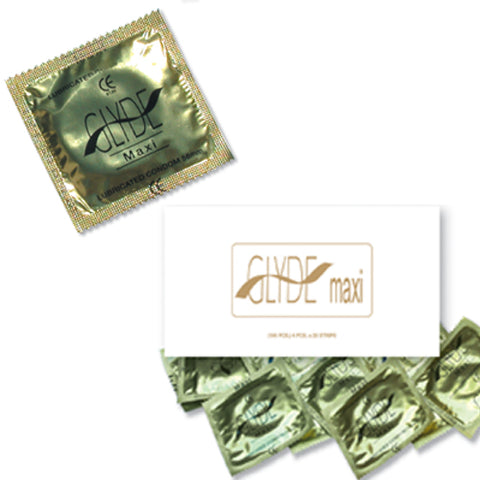 GLYDE Ultra Maxi 100 Condoms Vegan Suitable LARGE VEGAN CONDOMS BULK BUY