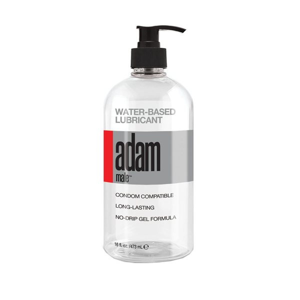 Adam Male Toys Water Based Lubricant - Water Based Lubricant - 16 oz Pump Bottle - Early2bed