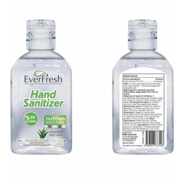 48pcs Everfresh Aloevera Instant Hand Sanitiser Antibacterial 50ml Back to School Travel Size - Early2bed