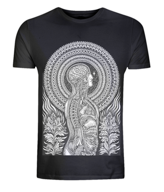 EP01 Classic Jersey Men's/Unisex T-Shirt Dark anatomy by Dale Sarok