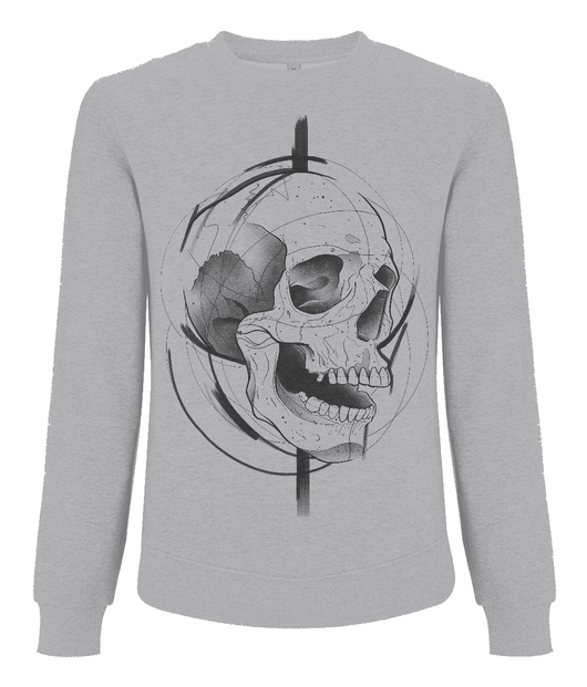 Skull Design Men's Raglan Sweatshirt by J Nelson
