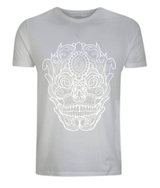 Ornate Skull Classic Tee by L Sharples - VidaThreads