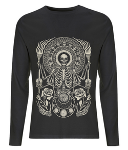 The Skeleton King Long Sleeved T Shirt D Sarok