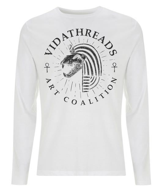 The Pharaoh Long Sleeved Tee by Helen Hebenton - VidaThreads